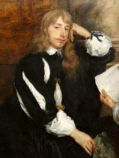Sir Anthony van Dyck (1599-1641) - Thomas Killigrew (1612-83) and William, Lord Crofts(?), 1638 : detail