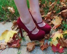 Topshop Saffi Mary Jane oxblood platforms.  I really need some red shoes.