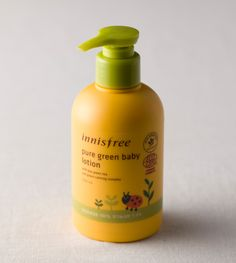 Pure green baby lotion::An organic certified baby lotion to soften and moisturize the baby's skin. #innisfree #innisfreeworld #lotion #babycare