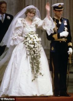 Diana and Charles wave on their wedding day in 1981