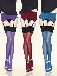 Gerbe 30 Denier Contrast Stockings