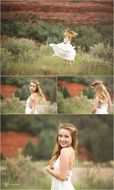 Senior photography free spirt - spinning in a field with red rock backdrop. Love!