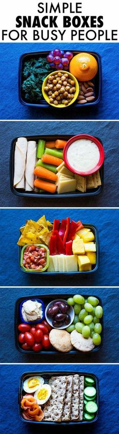 Healthy Snack Boxes on the go.....