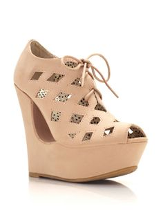 cut-out wedge booties $33.20