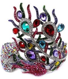 Contessa Bella Fancy Extra Large Chunky Multi Color Crystal Peacock Hinge Statement Cuff Bangle Women Bracelet Bird Animal Elegant Trendy Fashion Jewelry Mothers Day Gift Contessa Bella Bracelet,http://www.amazon.com/dp/B004X7VWYO/ref=cm_sw_r_pi_dp_DUcErbA9C6924583