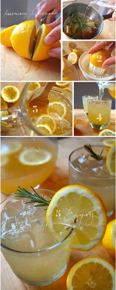 Rosemary lemonade.