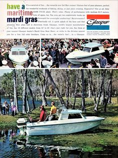 Retro Advertising, Vintage Advertisements, Classic Boats For Sale, Lake Boats, Cabin Cruiser, Boat Engine, Speed Boats, Boating, Skiing