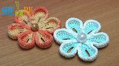How To Crochet Two-Side 3D Flower Tutorial ✿Teresa Restegui http://www.pinterest.com/teretegui/✿
