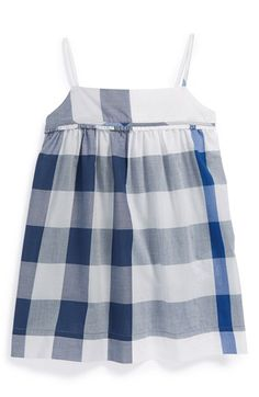 Burberry+'Magnolia'+Check+Print+Cotton+Sundress+(Baby+Girls)+available+at+#Nordstrom