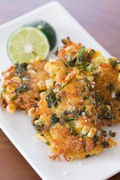 Enjoy these light, crispy corn and crab fritters
