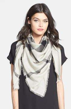 Burberry Overdyed Chambray Check Square Scarf available at #Nordstrom
