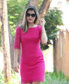 Tallita Martins - Vestido Guipir pink