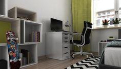 Vibrant, yellow teenager room / Warsaw 2013/ NANA design
