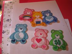 Craft Break for Me: Care Bears Punch Art--tutorial on web site Paper Punch Art, Punch Art Cards, Arte Punch, Craft Punches, Kids Birthday Cards, Candy Cards, Kids Cards, Cute Cards, Greeting Cards Handmade