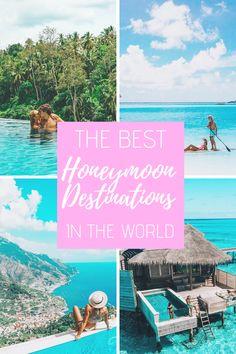 Best Luxury Honeymoon Destinations Around the World! The Best Luxury Honeymoon Destinations Around the World!The Best Luxury Honeymoon Destinations Around the World! Honeymoon Destinations All Inclusive, Florida Honeymoon, Best Places To Honeymoon, Honeymoon Places, Around The World Honeymoon, Tahiti Vacations, Spain Honeymoon, Australia Honeymoon, Honeymoon Clothes