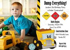 Construction Birthday - GREAT site for ADORABLE invites ideas and more!