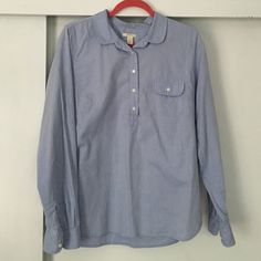 J.crew PopOver Pop over, size large, no stains. Never worn. NWOT J. Crew Tops Button Down Shirts