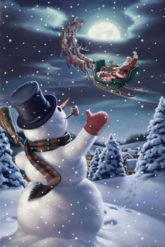 To All A Good Night and Buon Natale, merry christmas, joyeux noel, feliz… Christmas Scenes, Vintage Christmas Cards, Christmas Snowman, Winter Christmas, Christmas Holidays, Christmas Decorations, Merry Christmas Gif, Merry Christmas Animation, Merry Christmas Pictures