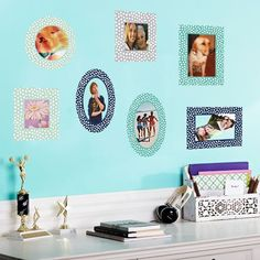 Decal Photo Frames - ~ we ❤ this! moncheriprom.com #dormroomdecorations