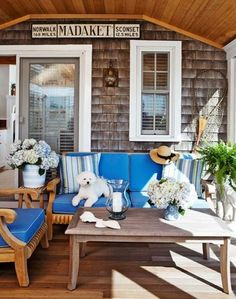 coastal blues - a great porch to sit on a hot sunny afternoon