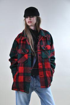 Vintage  LL Bean Lumberjack PLAID Wool Jacket  by Fuzzybellas