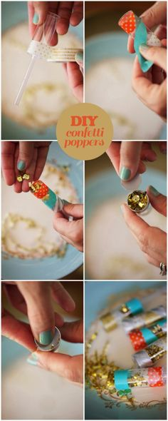 Sequin confetti poppers… CUTE! #newyears #party