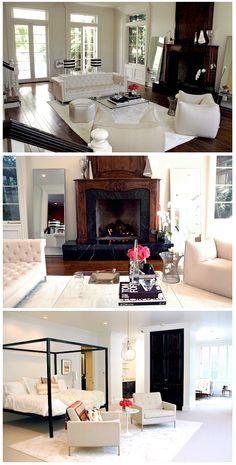 Rachel Zoe's house: neutrals, stripes, wood, white, metal, flowers MY DREAM HOUSE
