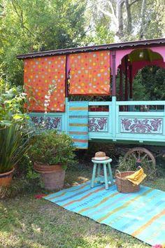 Décoration Roulottes, Roulottes et décoration de maison et style bohème - Jeanne Bayol