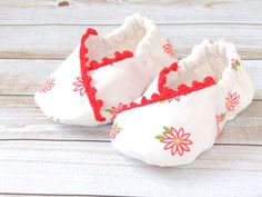 Baby Kimono Shoes  Baby Girl Slippers  Baby Shoes by littlepearco