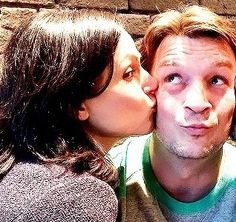 Fan girl dream come true! Lana parrilla and Nathan fillion!
