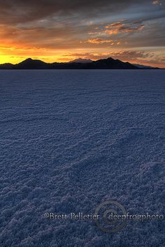 On one of Adams' travel in the 18 wheeler... Bonneville Salt Flats... Amazing~!!!!