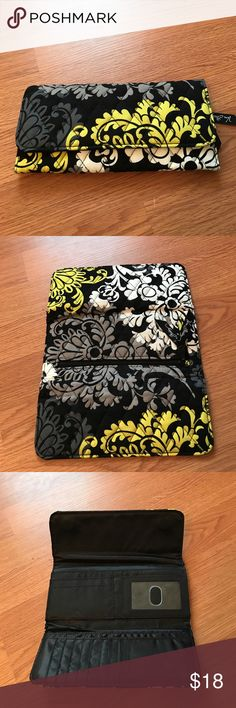"""Vera Bradley Baroque Tri-Fold magnetic wallet Used rarely, great wallet in excellent condition! Inside has room for money card slots in additional pockets. Magnetic closure fully intact, no signs of major wear or use, back has zipper closure intact. Wallet measures 8.5"""" x 4.5"""". Discontinued print! Vera Bradley Bags Wallets"""
