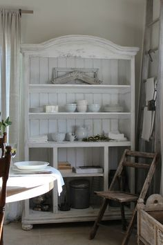 "Whitewashed wonder - ""Good influences surround me in my country kitchen where French style is inspired by the French countryside.""  (Burlap Luxe Home Photos Dore Callaway)"