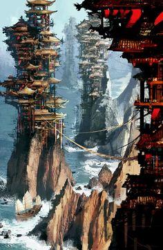 Pagodas.  By Daniel Dociu.