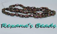 15 Mettalic Copper Czech Pressed Glass Beads. Starting at $7 on Tophatter.com! http://tophatter.com/auctions/18518