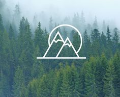 Mountains & Sun Decal / Mountain Decal / Nature Decals / Laptop Decals / Car Decals / Computer Decals / MacBook Decals / Window Decals