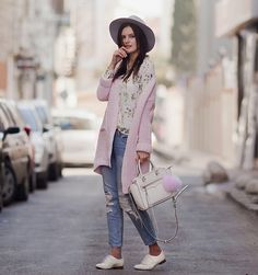 Get this look: http://lb.nu/look/8095206  More looks by Viktoriya Sener: http://lb.nu/viktoriyasener  Items in this look:  Asos Hat, Romwe Blouse, Sheinside Cardigan, Rebecca Minkoff Bag, Pom Pom, Mango Jeans, Braska Brogues   #chic #preppy #street