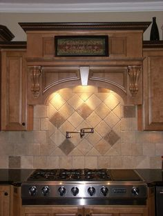 Tumbled Travertine Backsplash Design, Pictures, Remodel, Decor and Ideas