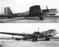 Two photos of a Heinkel 177 A-3 (ex-KG 40) captured by the French. Note the Dewoitine D.520 n°465 in the background of the lower picture. It's the only prototype of the Z variant powered by a 1600 hp engine Photos : P. Couderchon Collection
