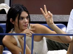 Model Kendall Jenner keeps the peace at the Women's Singles Quarterfinals match between Serena Williams and Venus Williams.  Matthew Stockman, Getty Images