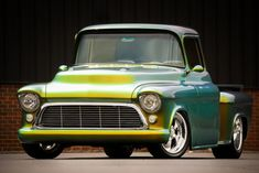 57 Chevy 3100 Show Truck, 383ci/500hp, Pearl Gold/Green Paint   USA MUSCLE CARS
