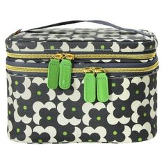 Orla Kiely train case/makeup bag. Love the size and fun pattern!