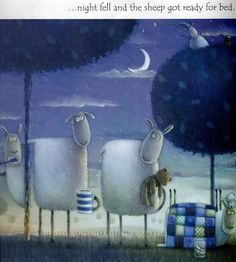 Rob Scrotton | As ovelhas dorminhocas de Rob Scotton / Sleepy sheep by Rob Scotton