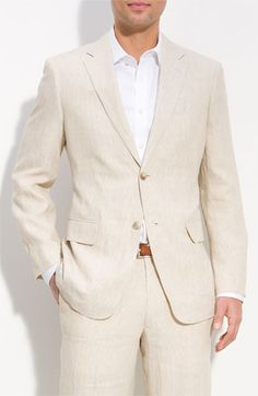 John W. Nordstrom® Stripe Linen Sportcoat available at #Nordstrom