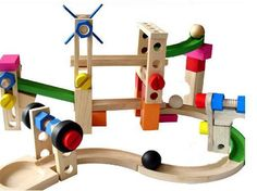 Cheap coaster desks, Buy Quality toy musical instruments for kids directly from China toy cow Suppliers: Classic Original Lotus Wood Building Blocks Wood Roller Coaster High QualityBlock Educational and Developme