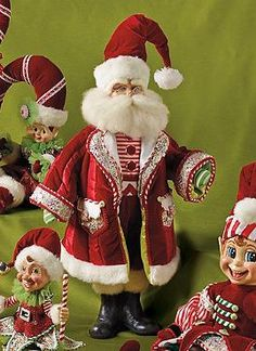 Featuring a cheerful ensemble, the Sweet Stripes Santa Doll offers whimsical spirit to your Christmas display and is sure to delight your guests at your holiday parties.