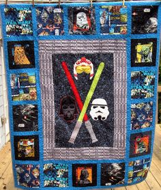 Star Wars Quilt, Episode 2, for my BIL. Click through for more detail pictures.