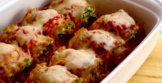 Skinny Lasagna Rolls. Individual sizes for portion control.
