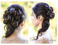 #Half-up half-down #hairstyle for long hair www.BingsDesign.com
