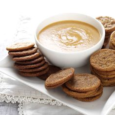 Spice Cookies with Pumpkin Dip Yummy